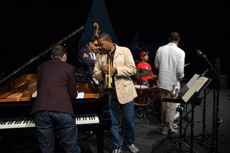 Wynton Marsalis during the sound check in Antwerp