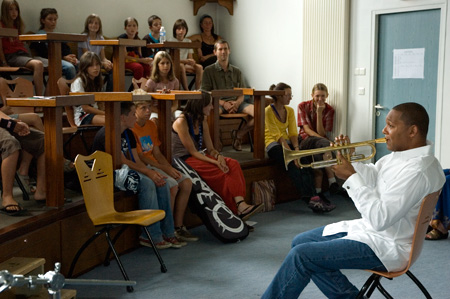Wynton giving Master Class at Marciac College