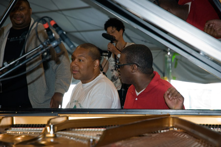 Wynton during the sound check for the Septet's concert