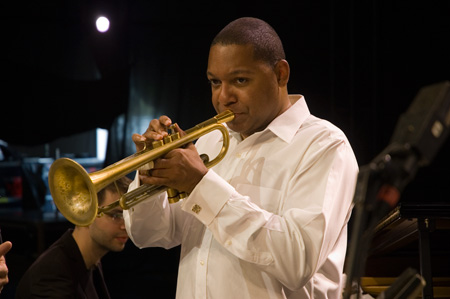 Wynton Marsalis during the sound check with Richard Galliano
