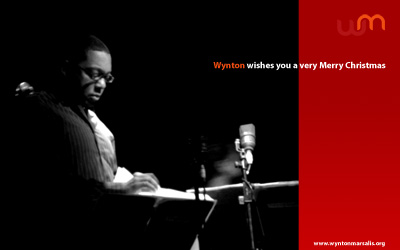 Wynton Marsalis fan club web Christmas Card