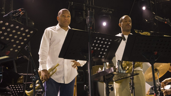 Wynton Marsalis Quintet featuring Richard Galliano in soundcheck at Jazz in Marciac 2008