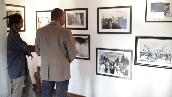 Wynton visiting the Alf Kumalo Museum in Soweto, South Africa
