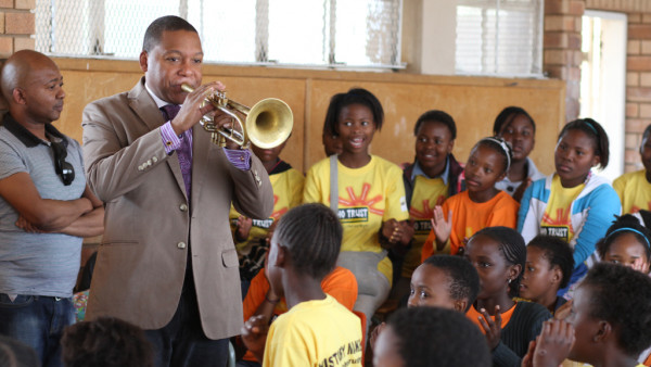 Wynton visiting the kids at Teboho Trust School - Soweto, South Africa