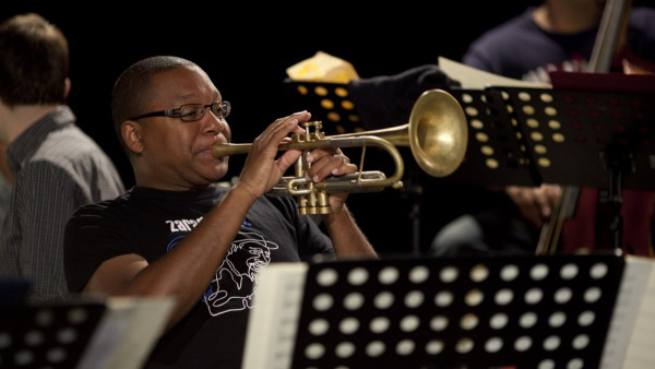 "Wynton Marsalis rehearsing the music of King Oliver and Jelly Roll Morton at ""Jazz in Marciac"" 2011"