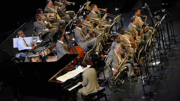 JLCO with Wynton Marsalis performing in Barcelona, Spain