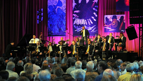 JLCO with Wynton Marsalis performing in Grass Valley, CA