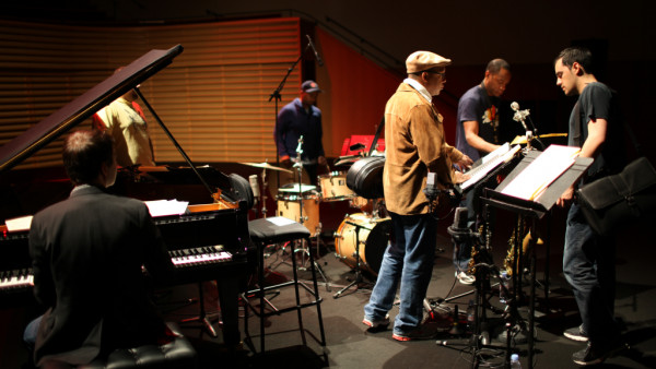 Wynton Marsalis Quintet featuring Richard Galliano in rehearsal at Salle Pleyel (Paris)
