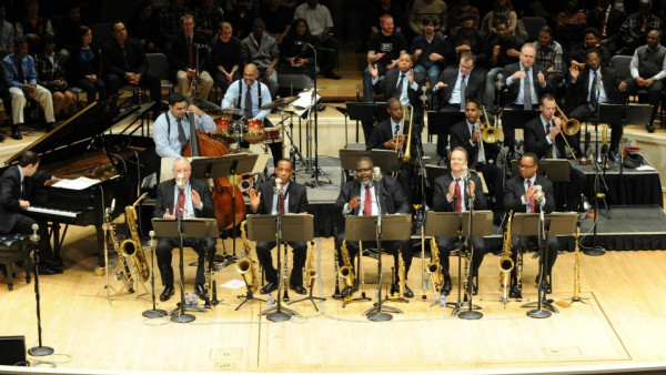 JLCO with Wynton Marsalis rehearsing in Chicago, IL