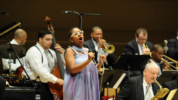 JLCO with Wynton Marsalis performing in Chicago, IL