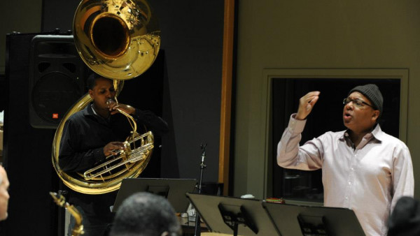 "JLCO with Wynton Marsalis rehearsing ""Blood on the Fields"" (Day 2)"