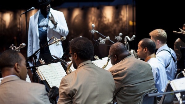 JLCO with Wynton Marsalis performing in Perugia (Umbria Jazz 2013)