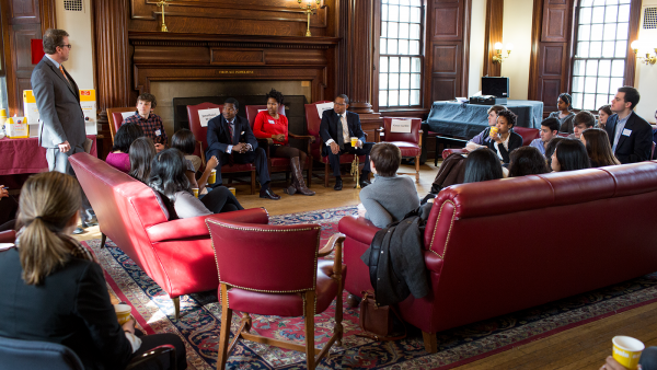 Wynton's panel at Phillips Brooks House (Harvard University)