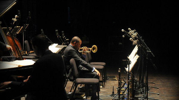 JLCO with Wynton Marsalis performing in Ames, IA