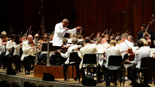 "JLCO with Wynton Marsalis and The Cleveland Orchestra performing ""Swing Symphony"""
