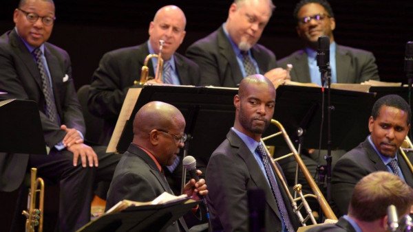JLCO with Wynton Marsalis performing in Stanford, CA