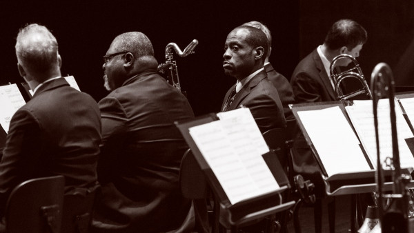 JLCO with Wynton Marsalis performing with NFM Philharmonic in Szczecin, Poland