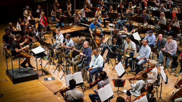 JLCO with Wynton Marsalis performing with NFM Philharmonic in Wroclaw, Poland