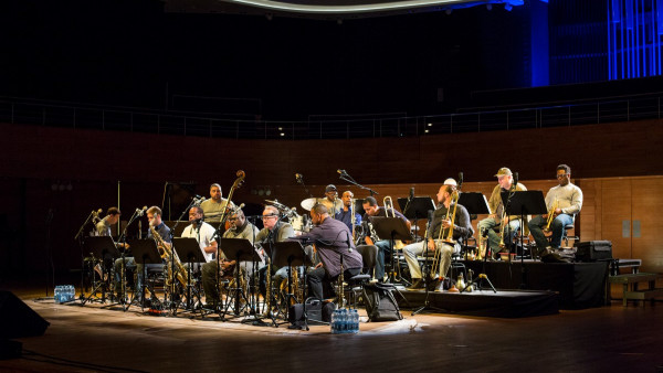 JLCO with Wynton Marsalis performing in Wroclaw, Poland