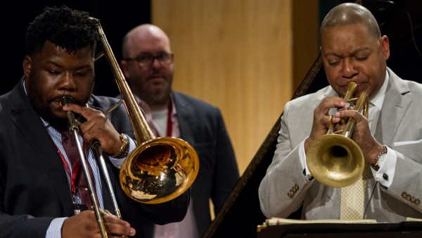 The Wynton Marsalis Septet performing at GEMS American Academy