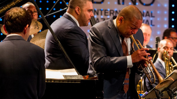 JLCO with Wynton Marsalis performing in Brno, Czech Republic