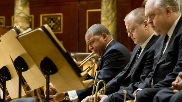 JLCO with Wynton Marsalis and Amadeus Chamber Orchestra performing in Poznań, Poland