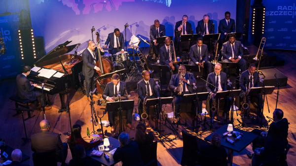 JLCO with Wynton Marsalis performing in Szczecin, Poland