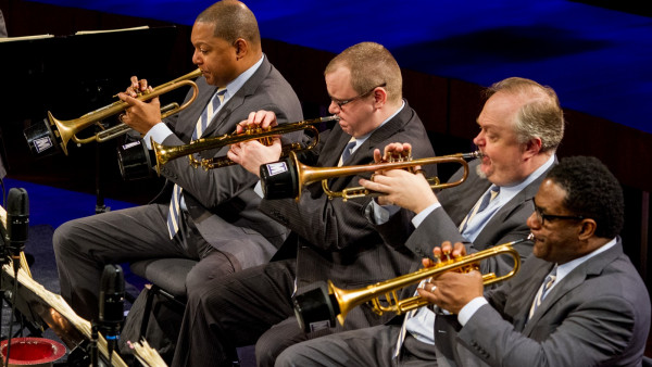 JLCO with Wynton Marsalis performing in Wrocław, Poland