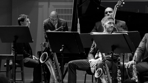 "JLCO with Wynton Marsalis performing ""Jazz for Young People: Who is Duke Ellington?"" in Vienna"
