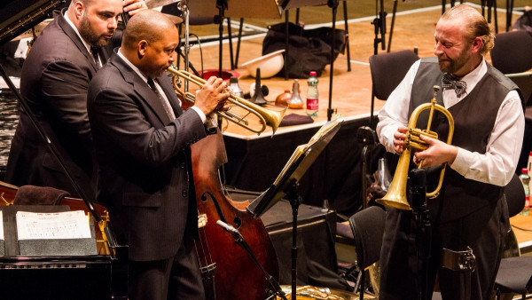 "JLCO with Wynton Marsalis performing ""The Art of the Brass: Dizzy, Miles and More"" in Vienna"