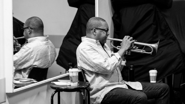 The Wynton Marsalis Quartet performing at Barbican Centre, London (rehearsal)