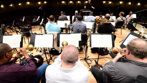 JLCO with Wynton Marsalis in rehearsal with the St. Louis Symphony