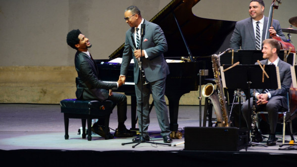 JLCO with Wynton Marsalis featuring Jon Batiste performing in Berkeley