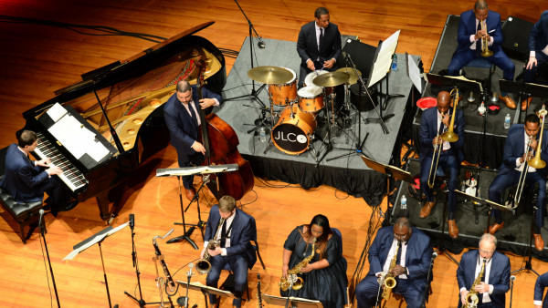 The JLCO with Wynton Marsalis performing in Brookings, SD and Dubuque, IA