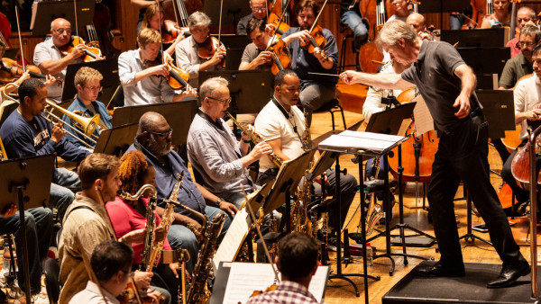 JLCO with Wynton Marsalis in rehearsal with The Sydney Symphony Orchestra