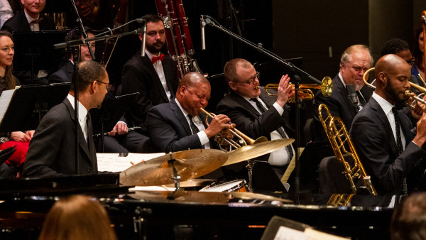 JLCO with Wynton Marsalis performing with The National Symphony Orchestra of Romania