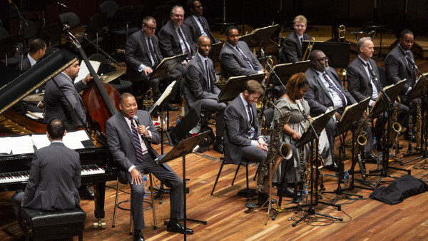 "The JLCO with Wynton Marsalis performing ""Jazz for Young People"" concert in Melbourne"