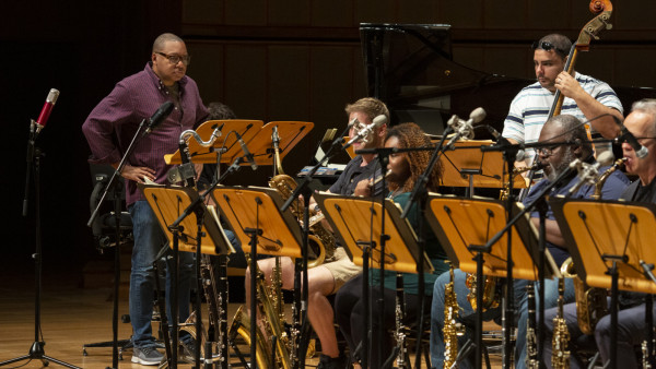 The JLCO with Wynton Marsalis performing in Singapore