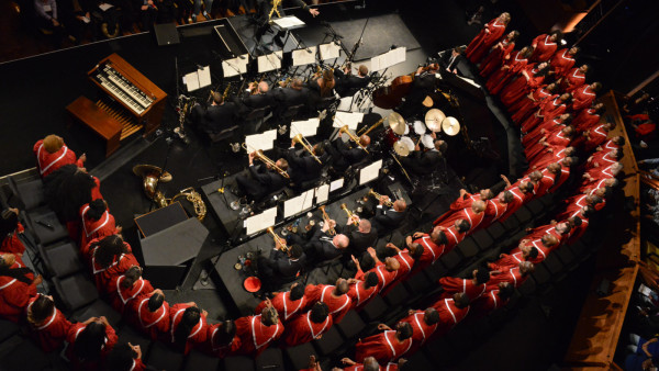 "The JLCO with Wynton Marsalis performing ""The Abyssinian Mass"" with the Chorale Le Chateau"