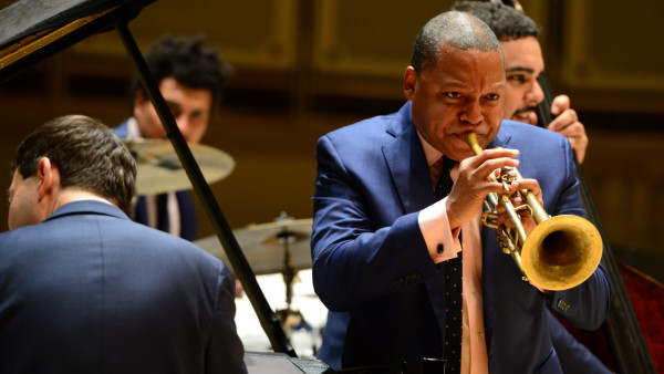 The JLCO with Wynton Marsalis performing in Chicago, IL