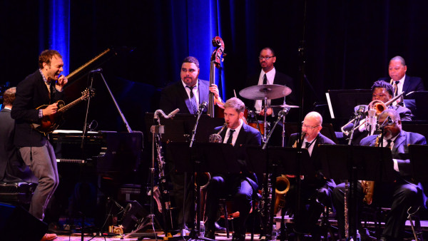 "The JLCO with Wynton Marsalis performing at ""Live from Here"" with Chris Thile"