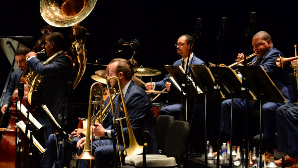 The JLCO with Wynton Marsalis performing in Rochester, NY