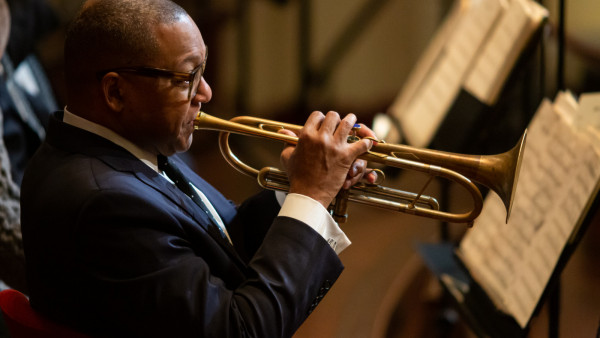 The JLCO with Wynton Marsalis performing in Amsterdam, Netherlands (day 1)