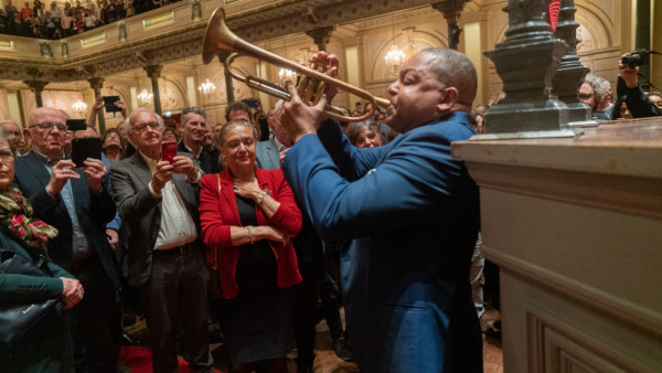 The JLCO with Wynton Marsalis performing in Amsterdam, Netherlands (day 2)