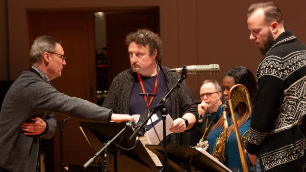The JLCO with Wynton Marsalis performing in Brussels, Belgium (day 2)