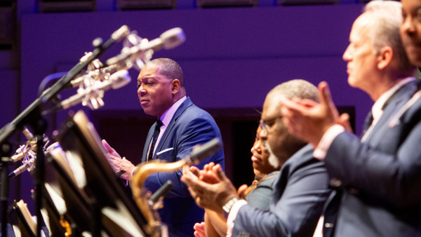 "The JLCO with Wynton Marsalis performing ""Jazz for Young People"" concert in Brussels, Belgium (day 3)"
