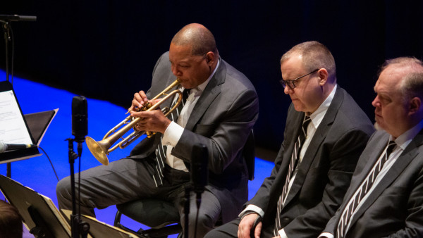 The JLCO with Wynton Marsalis performing in Castellón de la Plana, Spain