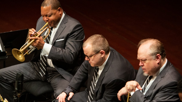 The JLCO with Wynton Marsalis performing in Luxembourg City, Luxembourg