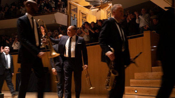 The JLCO with Wynton Marsalis performing in Madrid, Spain