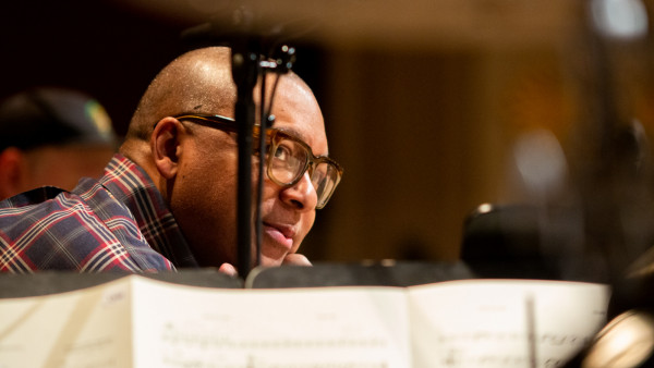 The JLCO with Wynton Marsalis performing in Vienna, Austria (day 3)